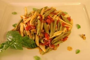 foglie di ulivo con melanzane pomodorino e spek